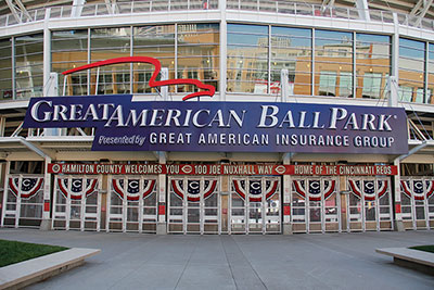Front entrance of Great American Ball Park