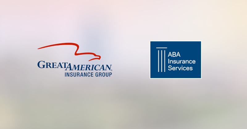 Great American and ABA Insurance Services logos on blurred background