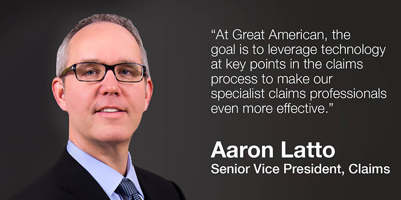 Aaron Latto, Senior Vice President, Claims, Executive Portrait