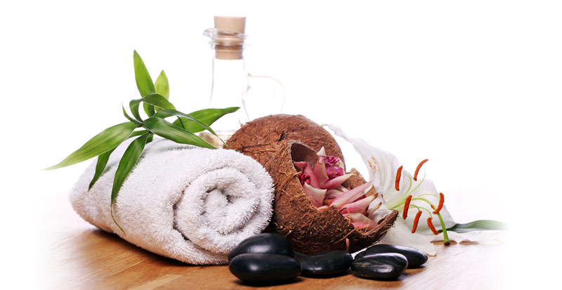 massage oil and towel - loss control