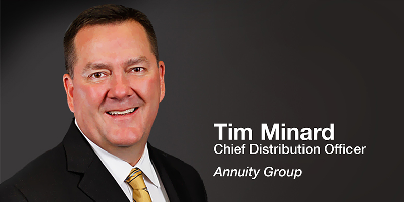 Tim Minard, Chief Distribution Office, Annuity Group, executive portrait
