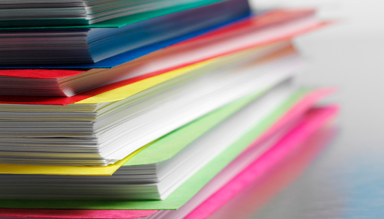 How to... stack of color paper