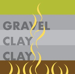 gravel and clay capped ground
