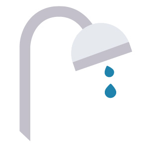 dripping shower icon