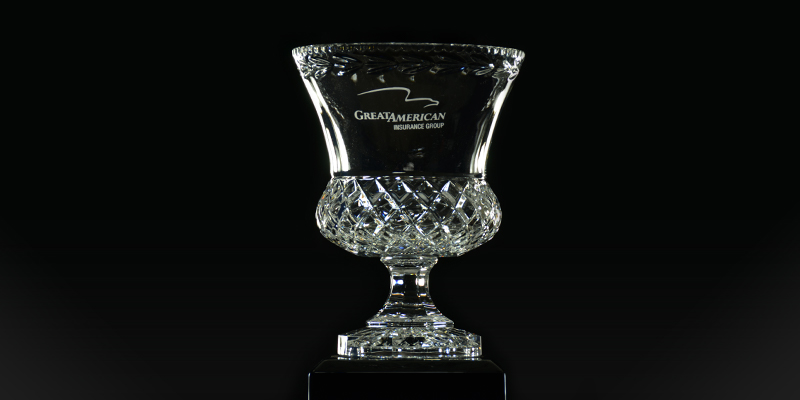 Photo of crystal trophy cup rewarded to the Environmental Division