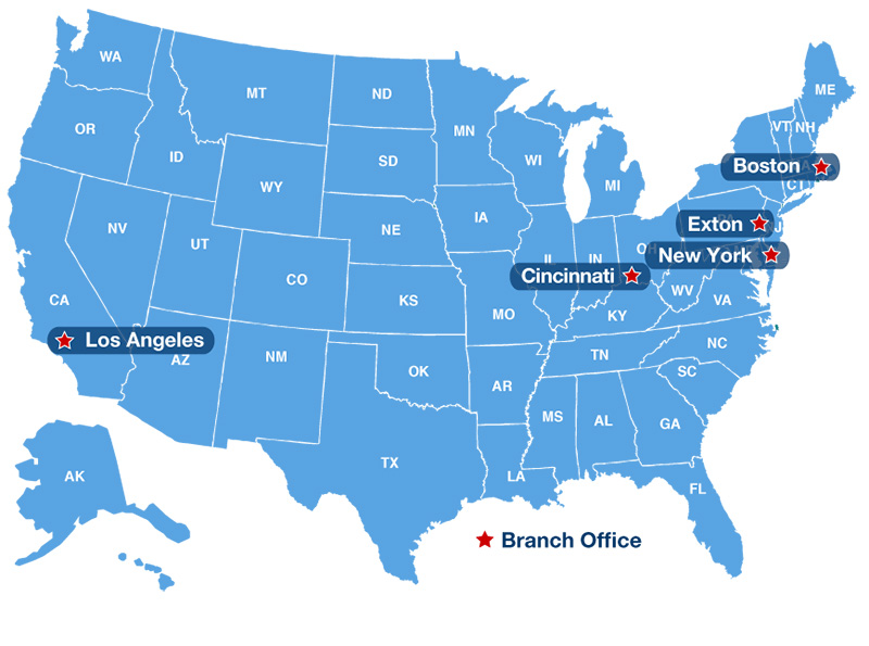 Environmental Offices USA map