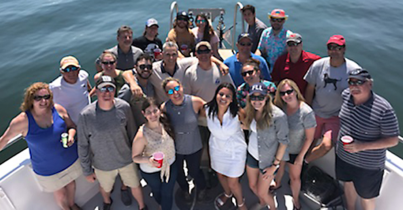 Environmental members on charter boat, group photo