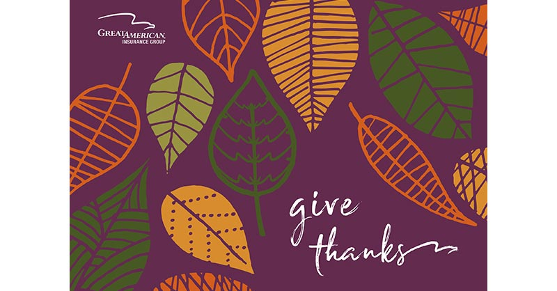 Give Thanks - Thanksgiving message from Great American Insurance Group