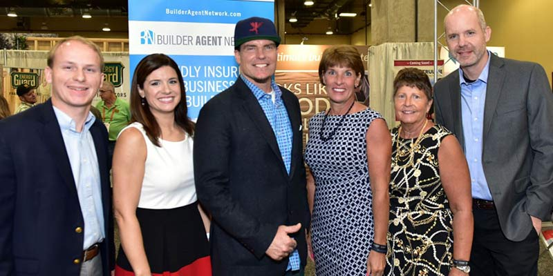 Property & Inland Marine team photo with Vanilla Ice at Sunbelt Builders Show